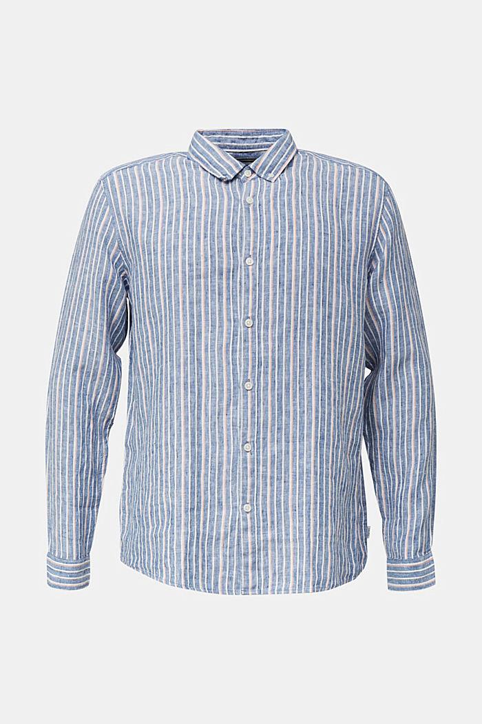 100% linen: Striped shirt, NAVY, detail image number 5