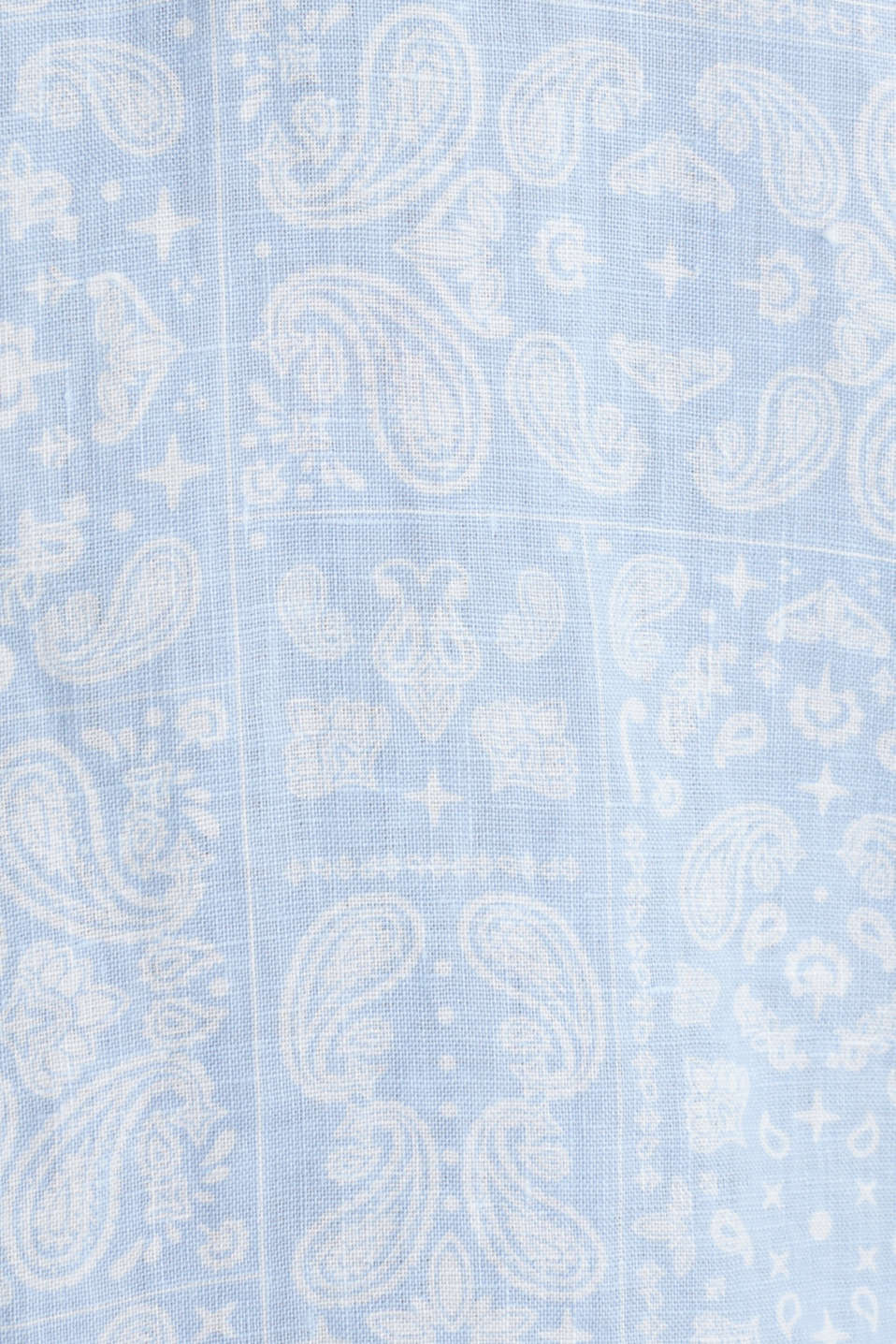 100% linen: paisley print shirt, PASTEL BLUE 4, detail image number 4