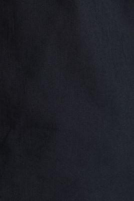 Linen blend: shirt with a stand-up collar, BLACK, detail