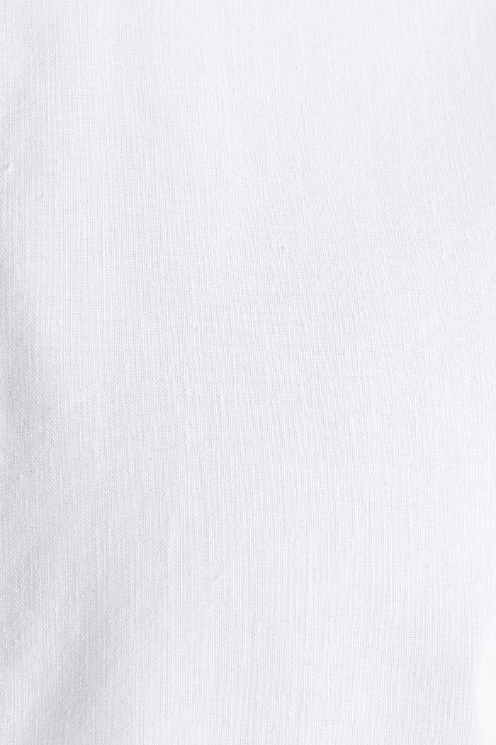 En lin mélangé: la chemise à col montant, WHITE, detail image number 4