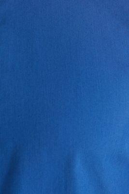 Linen blend: shirt with a stand-up collar, INK, detail
