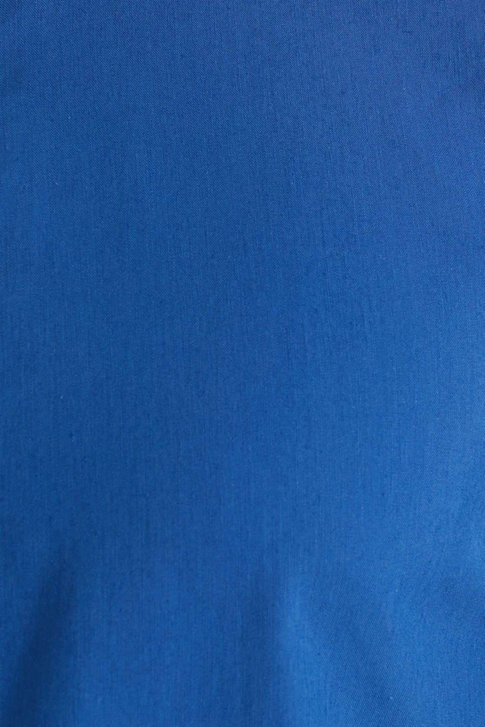 Linen blend: shirt with a stand-up collar, INK, detail image number 4