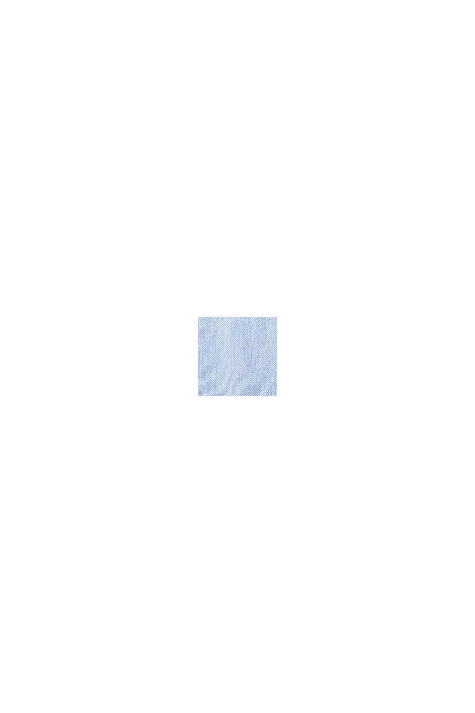 Linnemix: skjorta med ståkrage, LIGHT BLUE, swatch