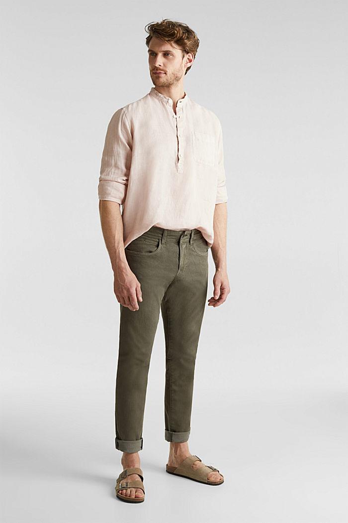 EarthColors®: Shirt, 100% linen, BLUSH, detail image number 0