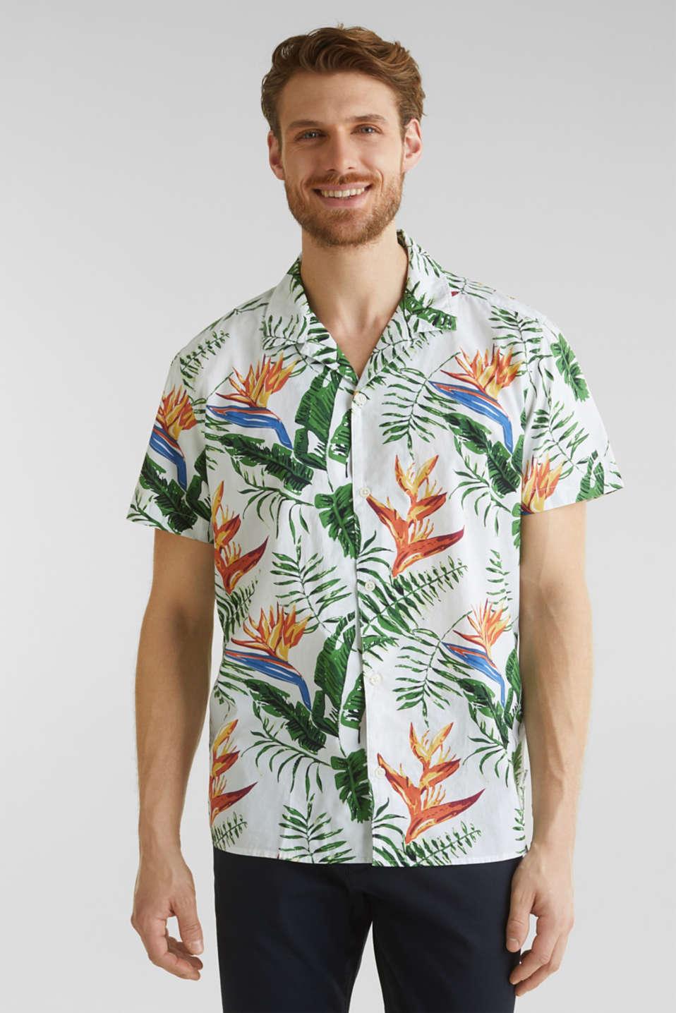 Hawaii shirt made of 100% organic cotton, WHITE 4, detail image number 0