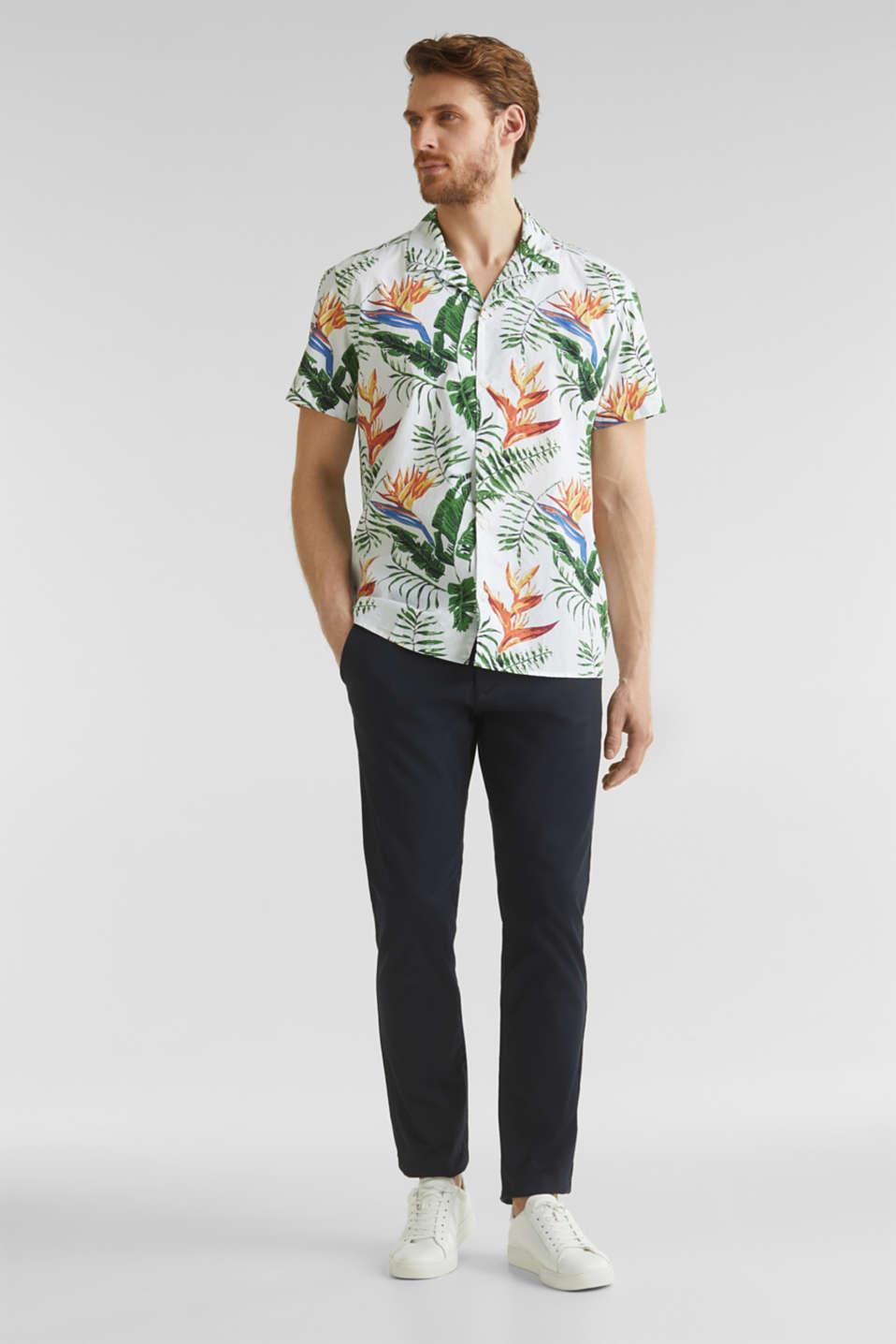 Hawaii shirt made of 100% organic cotton, WHITE 4, detail image number 1