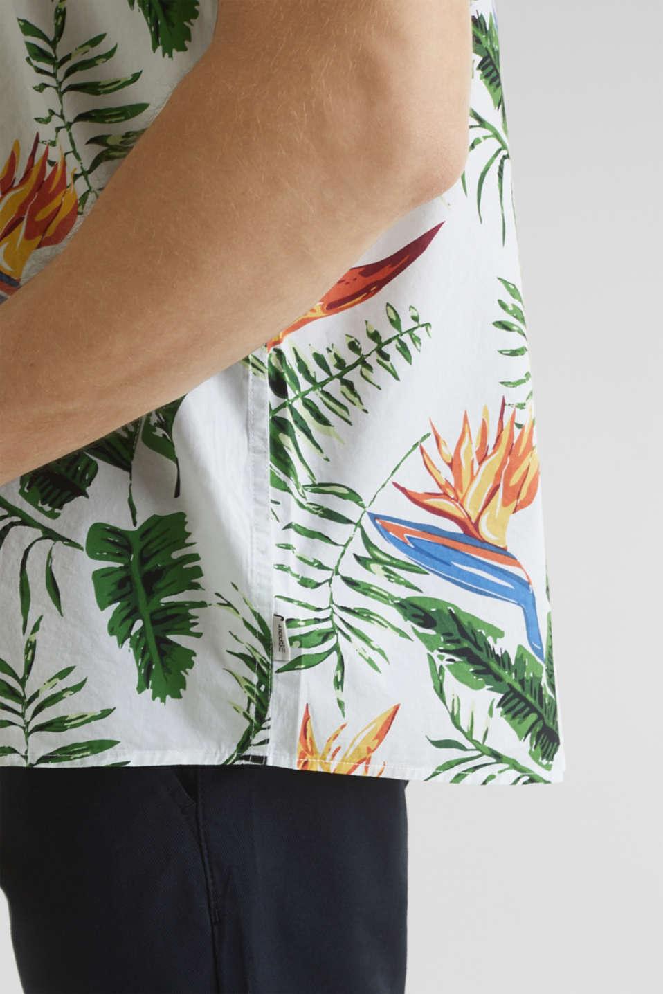 Hawaii shirt made of 100% organic cotton, WHITE 4, detail image number 4