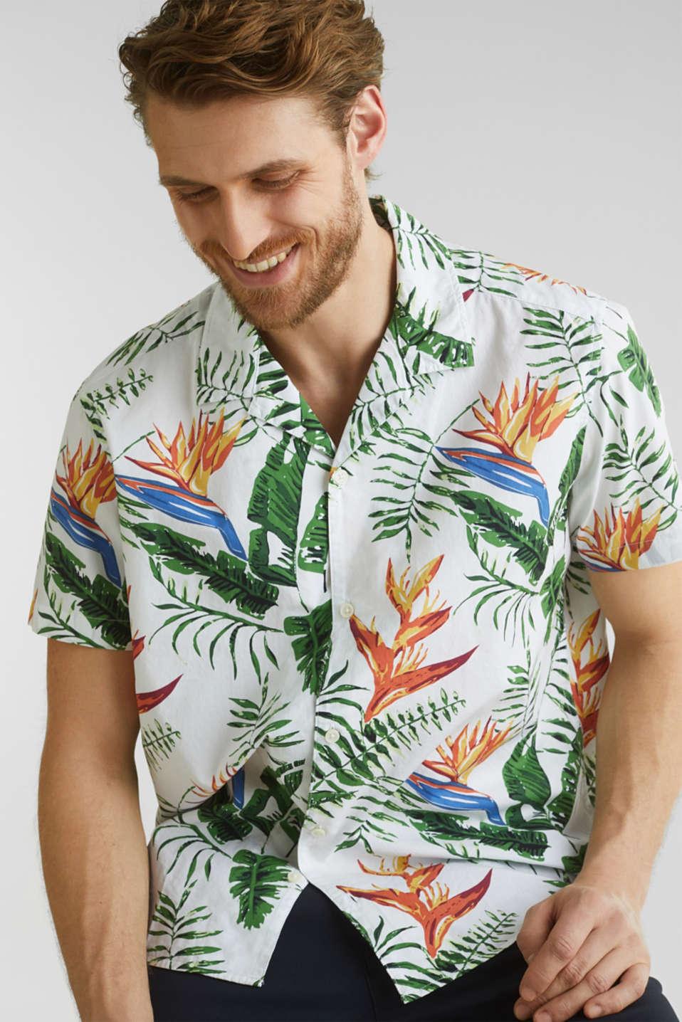 Hawaii shirt made of 100% organic cotton, WHITE 4, detail image number 5