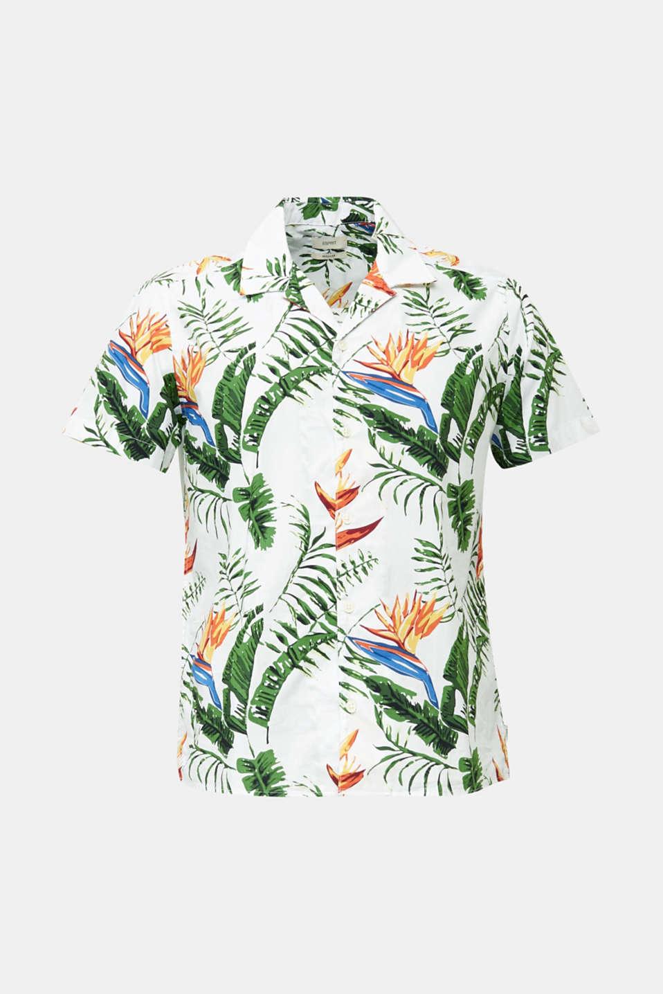 Hawaii shirt made of 100% organic cotton, WHITE 4, detail image number 6