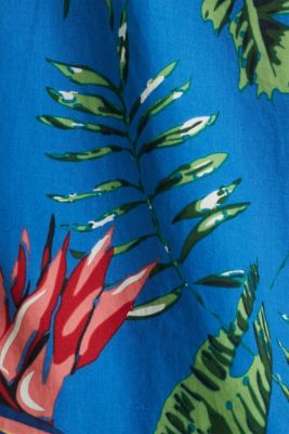 Hawaii shirt made of 100% organic cotton, BLUE 4, detail