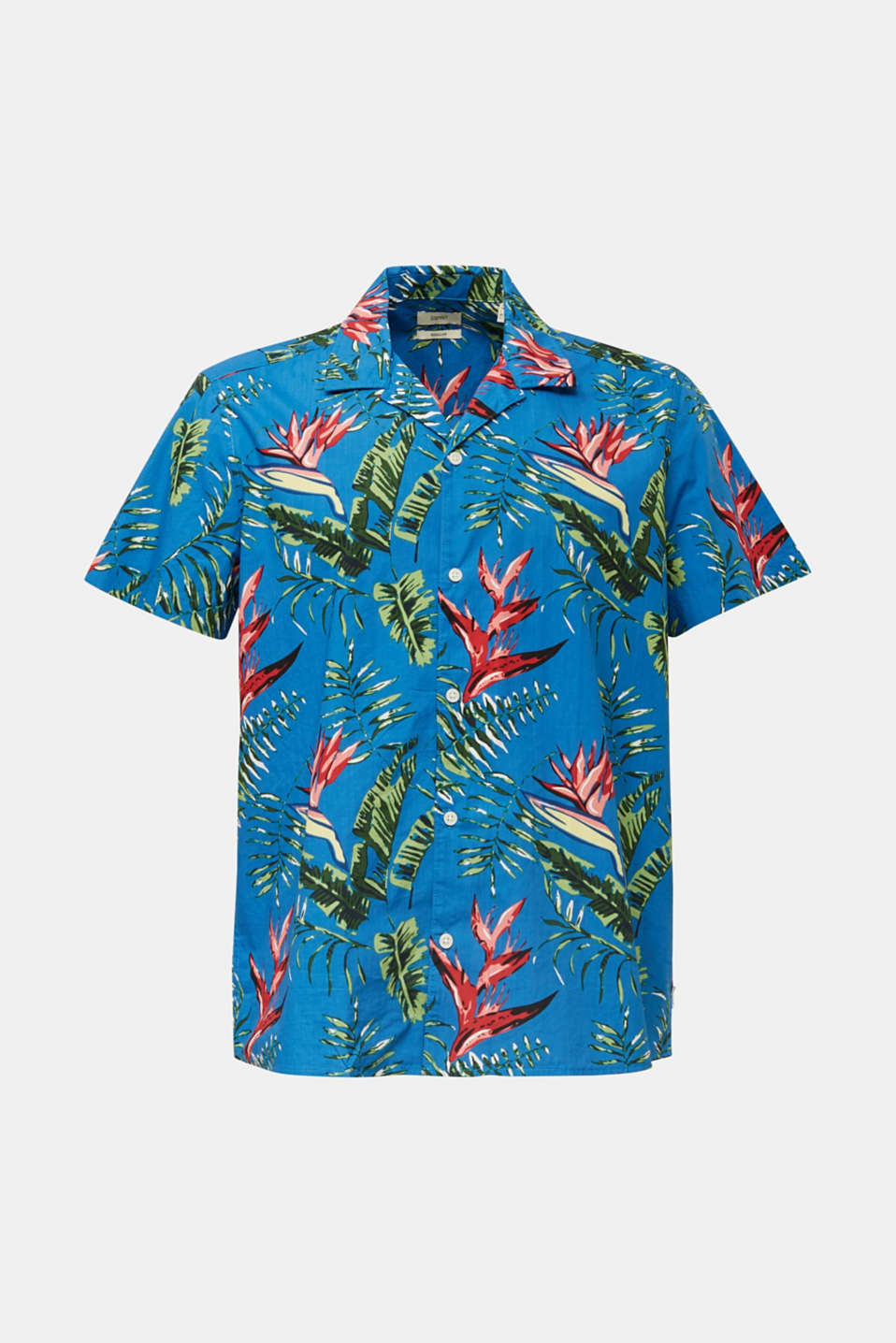 Hawaii shirt made of 100% organic cotton, BLUE 4, detail image number 5
