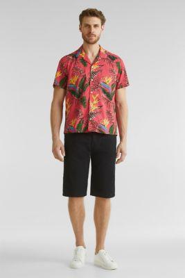 Hawaii shirt made of 100% organic cotton, ORANGE RED 4, detail