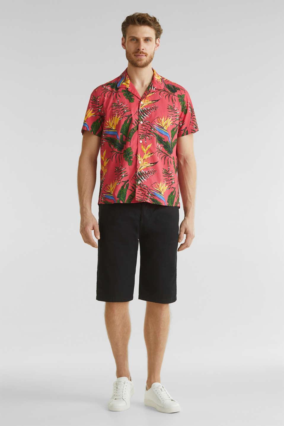 Hawaii shirt made of 100% organic cotton, ORANGE RED 4, detail image number 1
