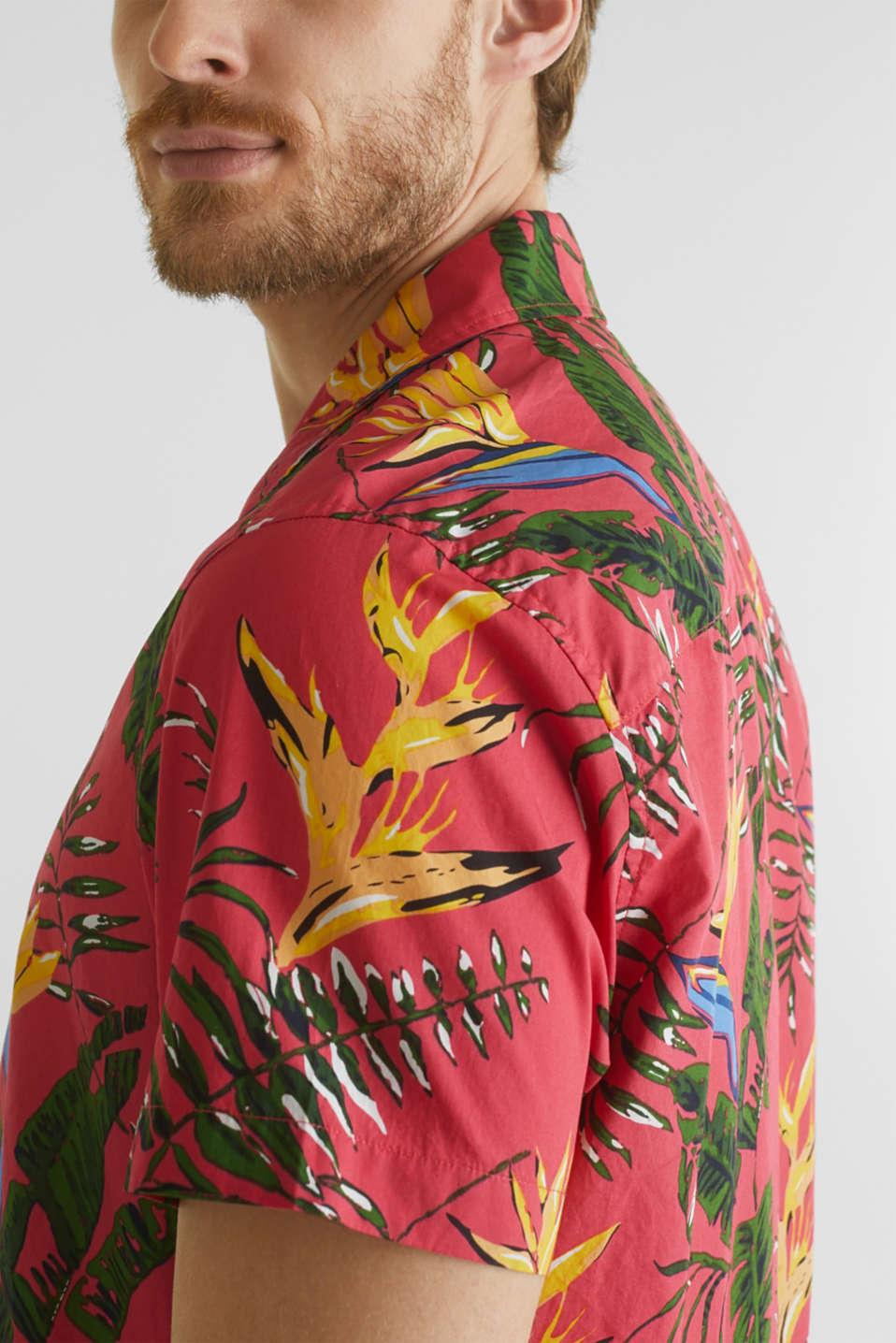 Hawaii shirt made of 100% organic cotton, ORANGE RED 4, detail image number 2