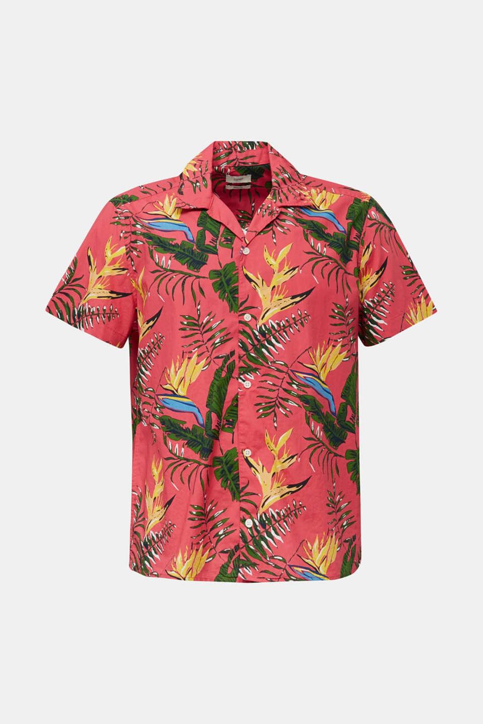 Hawaii shirt made of 100% organic cotton, ORANGE RED 4, detail image number 5