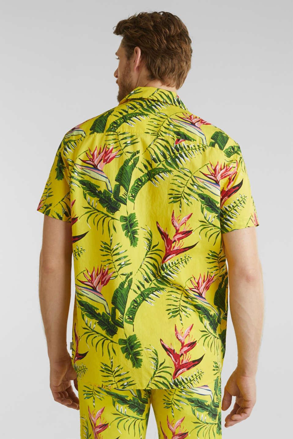 Hawaii shirt made of 100% organic cotton, LIGHT YELLOW 4, detail image number 2
