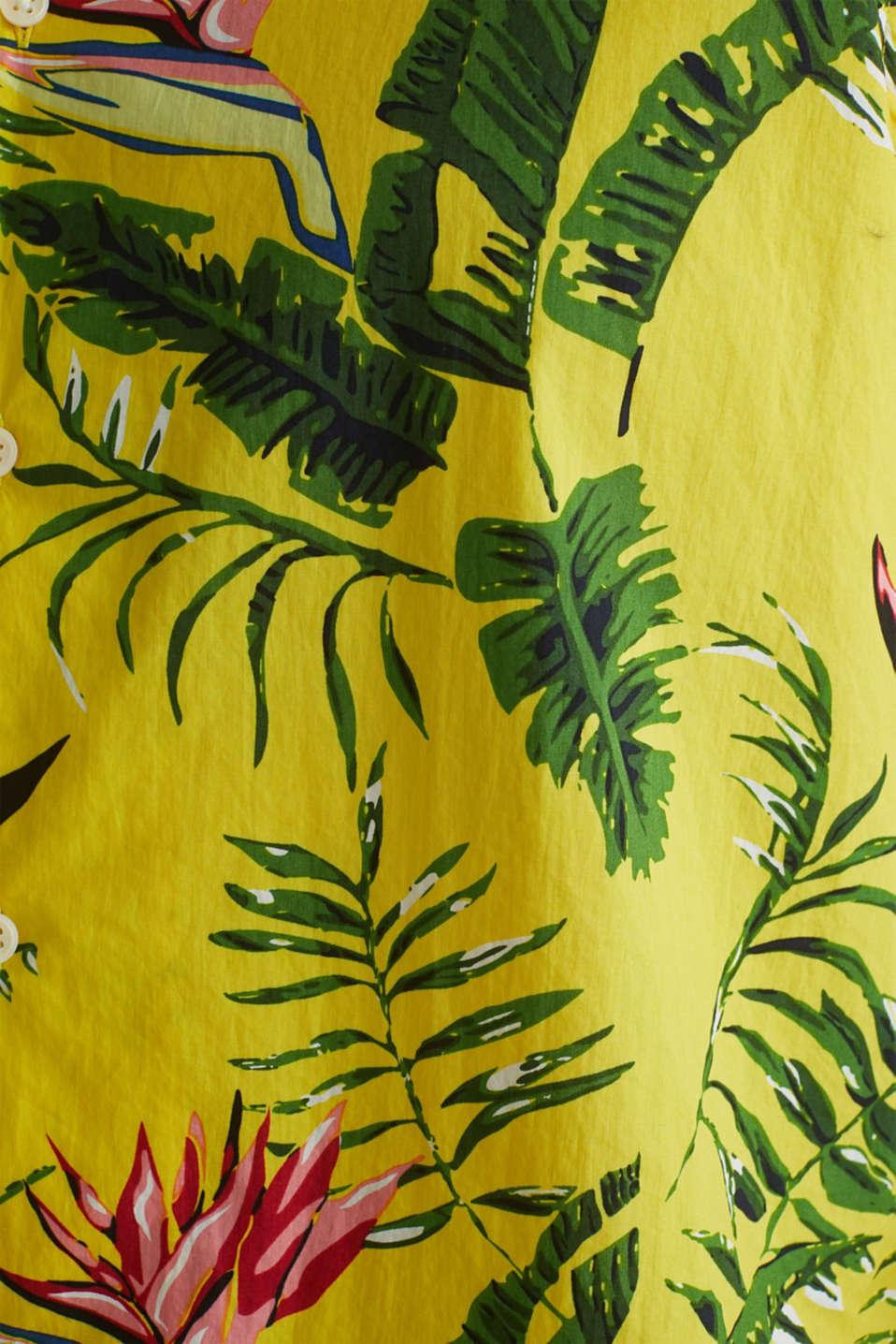 Hawaii shirt made of 100% organic cotton, LIGHT YELLOW 4, detail image number 3