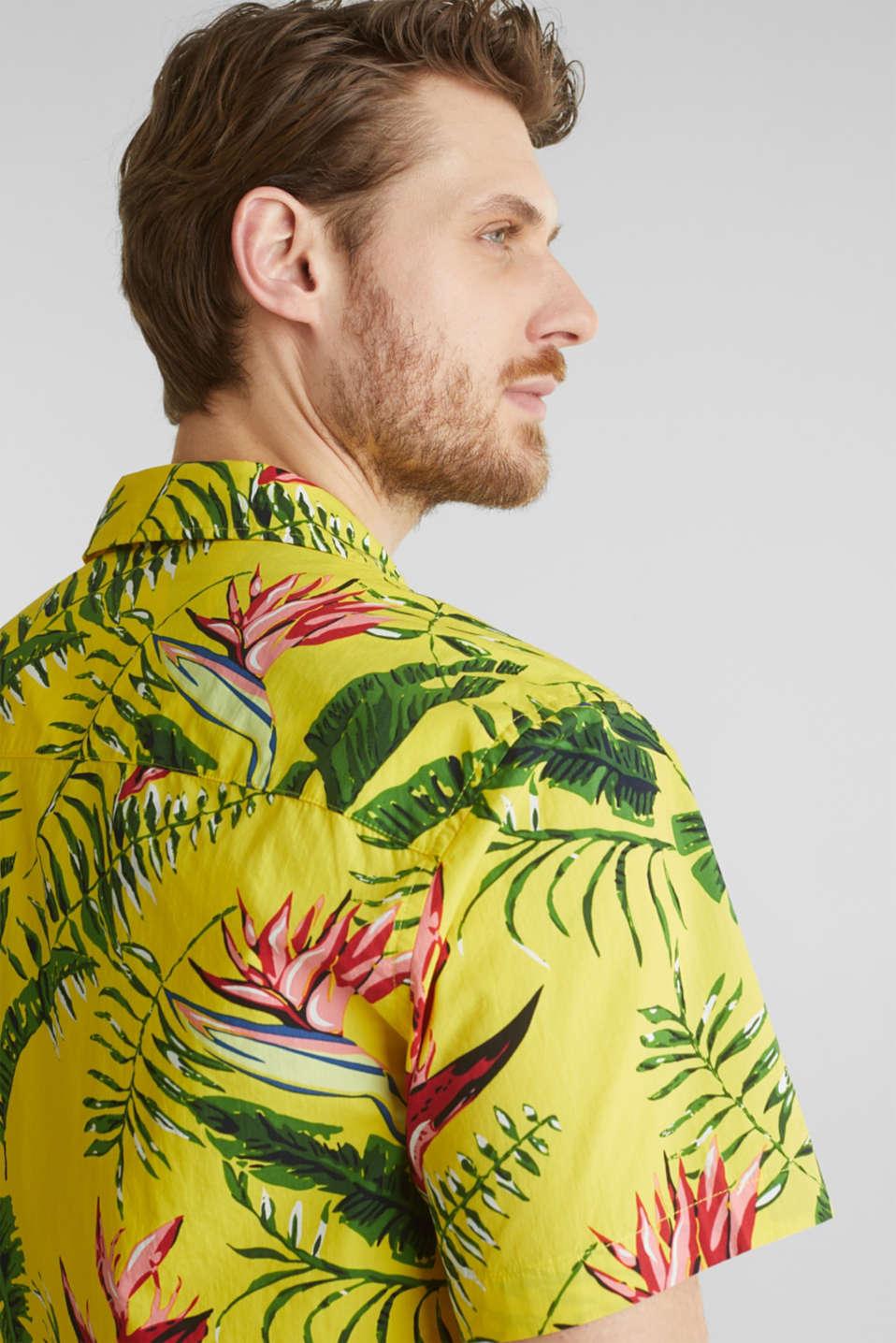 Hawaii shirt made of 100% organic cotton, LIGHT YELLOW 4, detail image number 4
