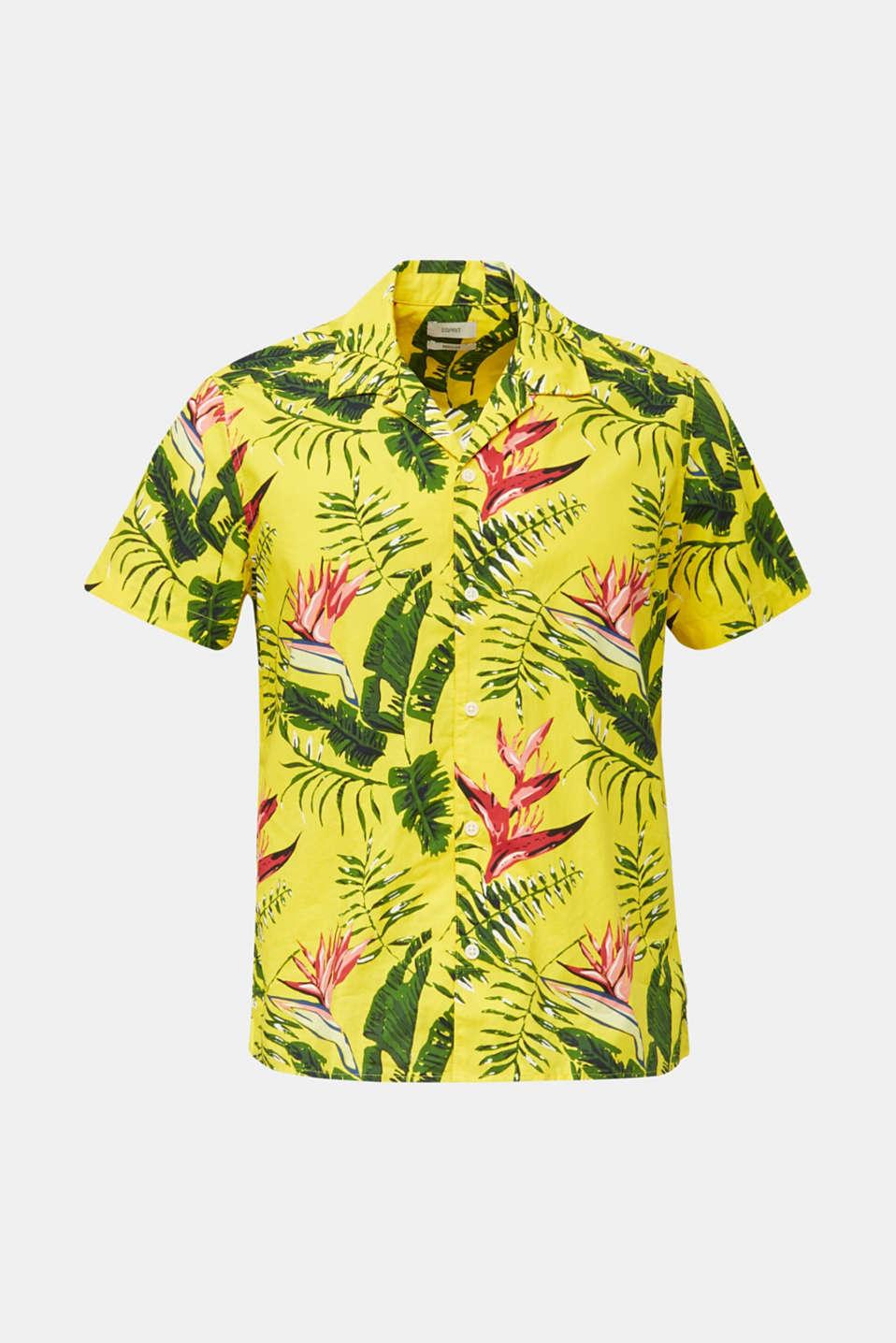 Hawaii shirt made of 100% organic cotton, LIGHT YELLOW 4, detail image number 5