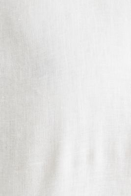 Made of linen: Shirt with a stand-up collar, OFF WHITE, detail