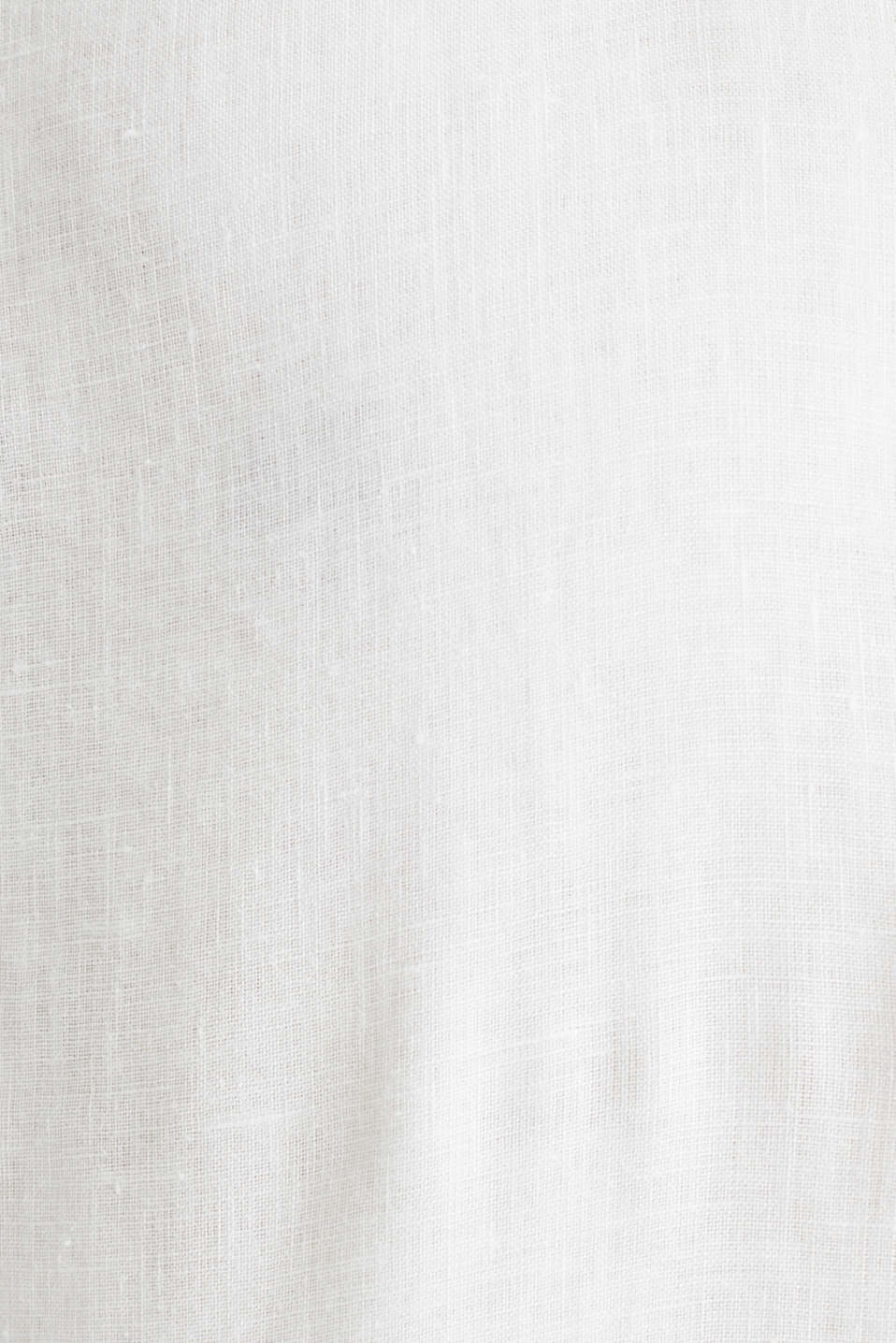 Made of linen: Shirt with a stand-up collar, OFF WHITE, detail image number 4
