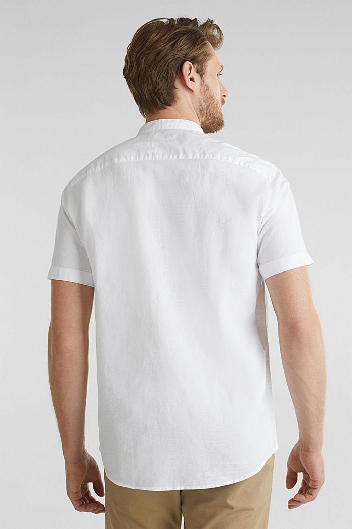 Material-Mix-Hemd aus 100% Organic Cotton, WHITE, detail image number 3