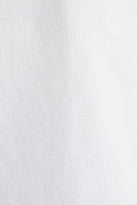 Material-mix shirt made of 100% organic cotton, WHITE 5, detail