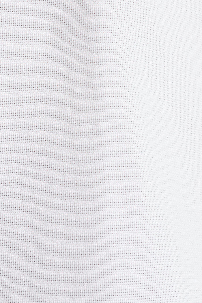 Material-mix shirt made of 100% organic cotton, WHITE, detail image number 4