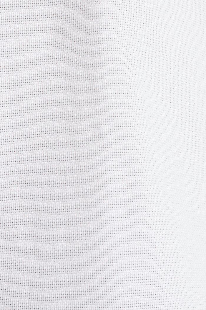 Material-Mix-Hemd aus 100% Organic Cotton, WHITE, detail image number 4