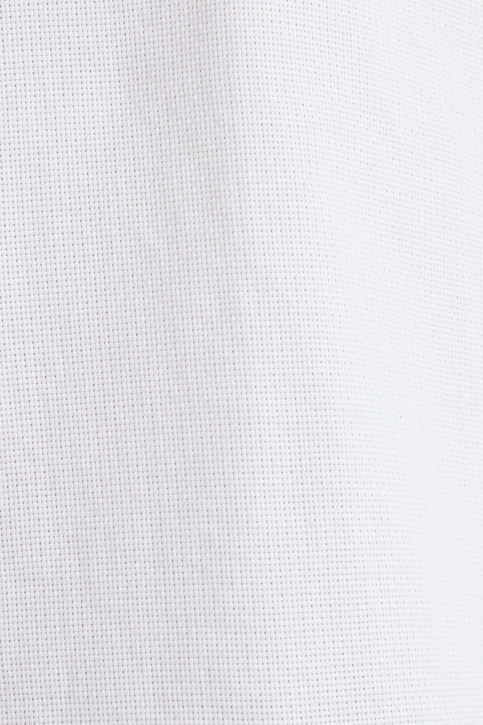 Material-mix shirt made of 100% organic cotton, WHITE 5, detail image number 4