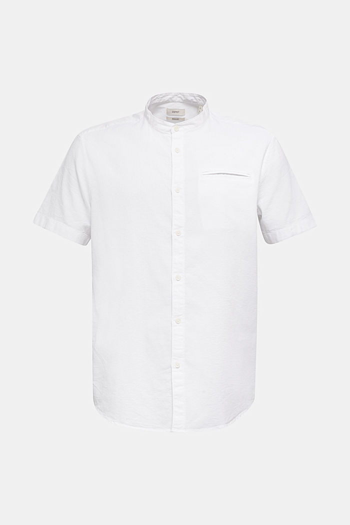 Material-mix shirt made of 100% organic cotton, WHITE, detail image number 8