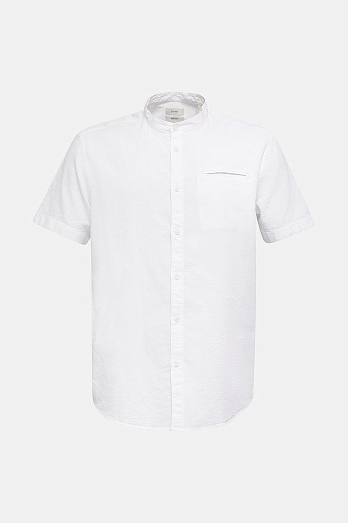 Material-mix shirt made of 100% organic cotton