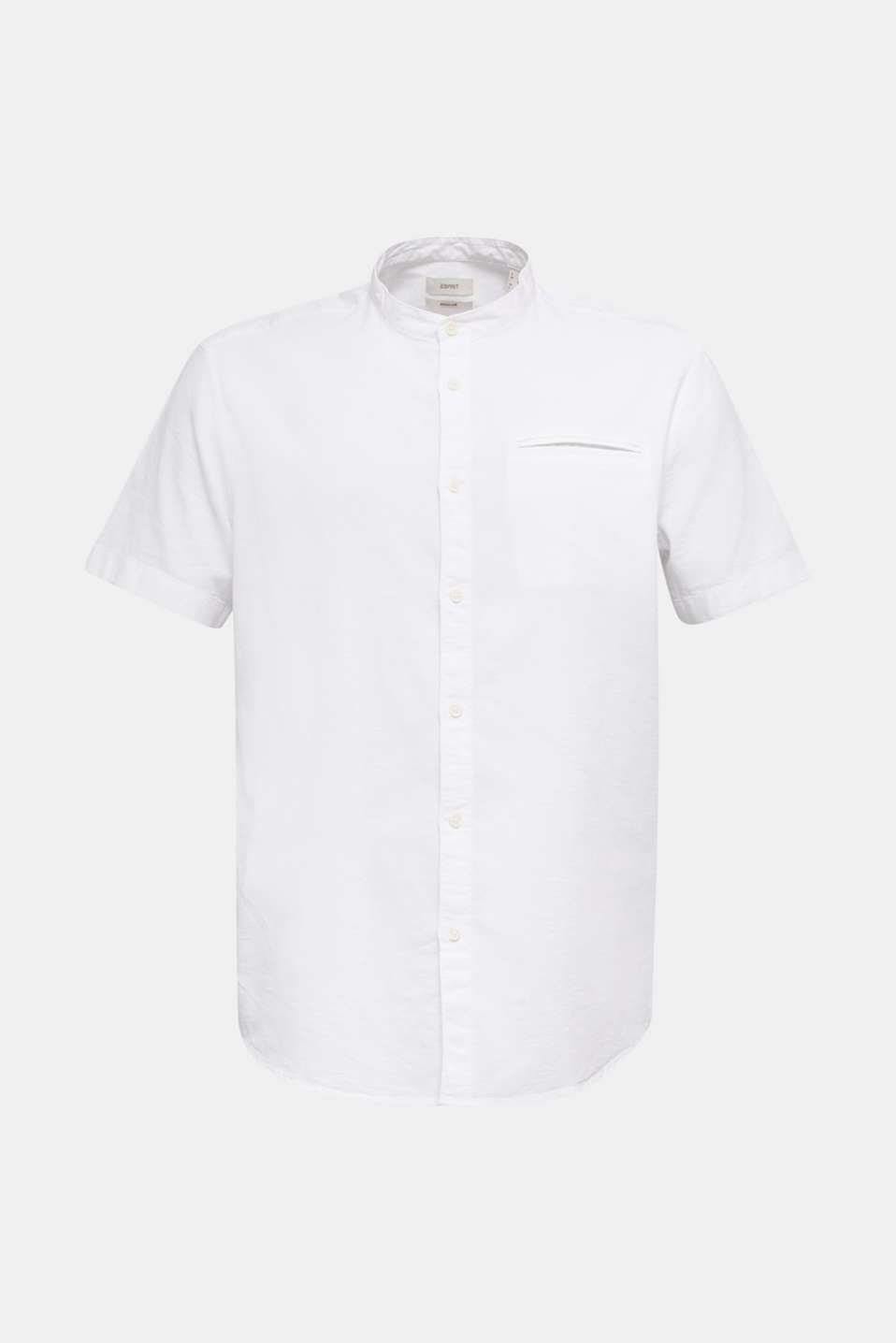 Material-mix shirt made of 100% organic cotton, WHITE 5, detail image number 8