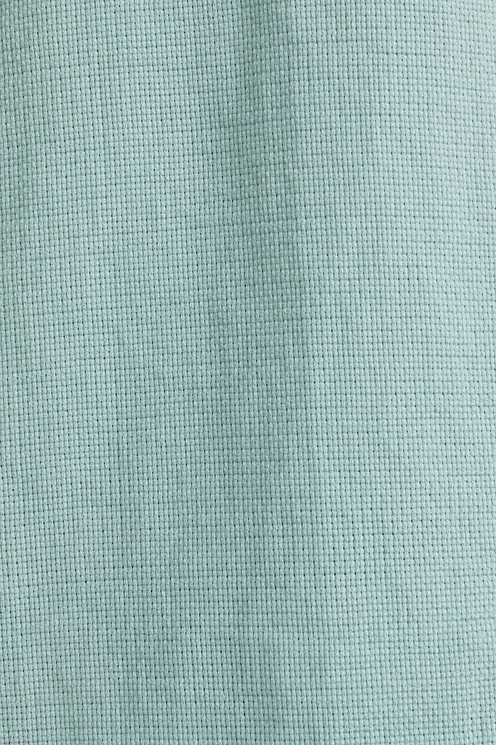 Camicia in materiale misto, 100% cotone biologico, DUSTY GREEN, detail image number 4