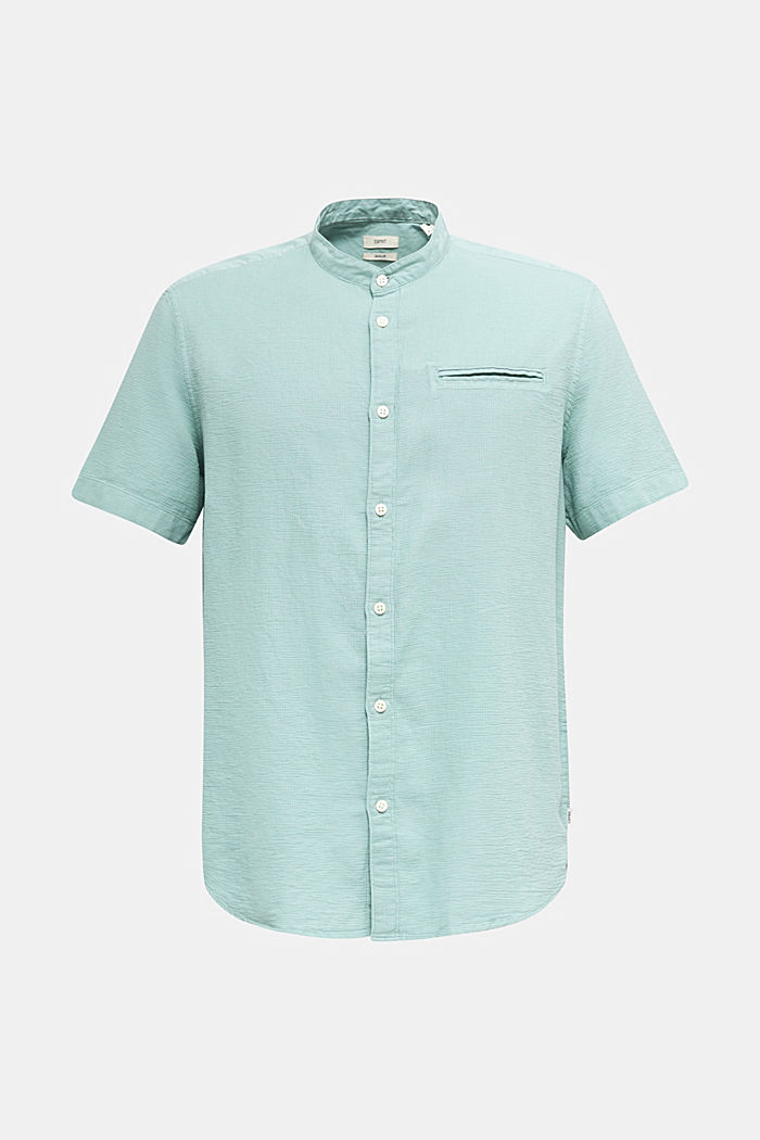 Camicia in materiale misto, 100% cotone biologico, DUSTY GREEN, detail image number 6