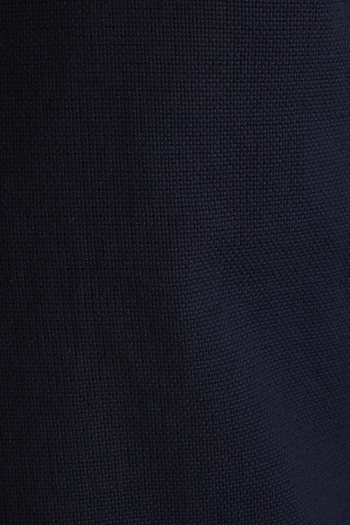 Material-mix shirt made of 100% organic cotton, NAVY, detail image number 4