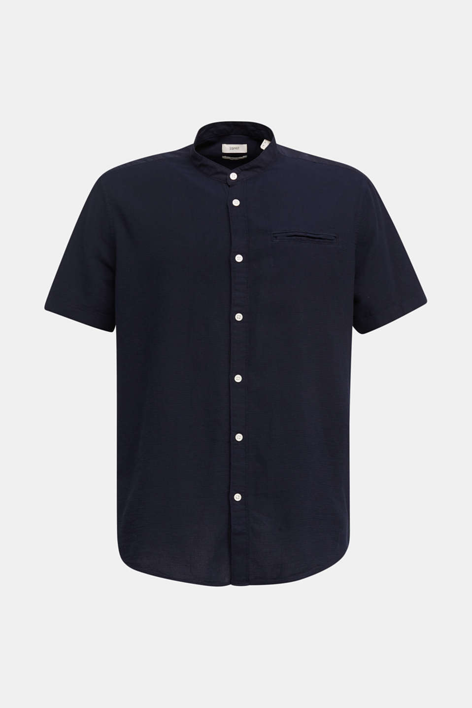 Material-mix shirt made of 100% organic cotton, NAVY 5, detail image number 6