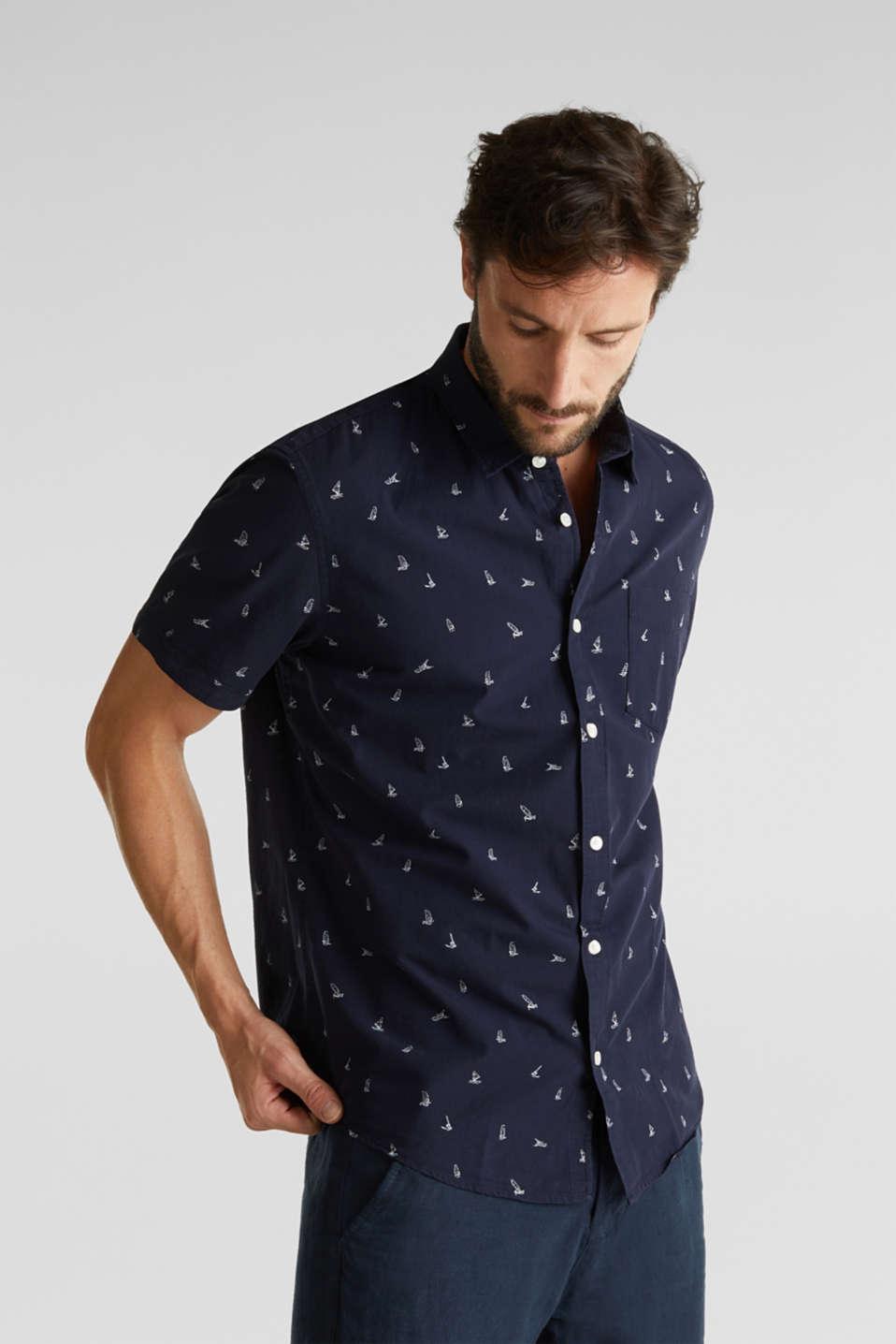 Print shirt made of 100% organic, NAVY, detail image number 0