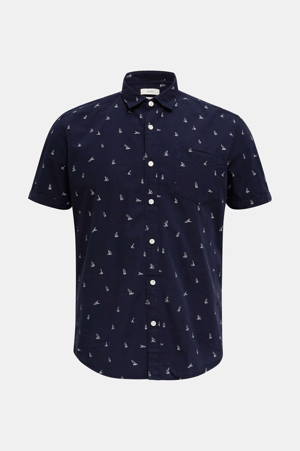Print shirt made of 100% organic, NAVY, detail image number 5