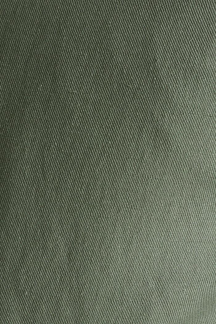 Mit Leinen: Bomber-Jacke, KHAKI GREEN, detail image number 4