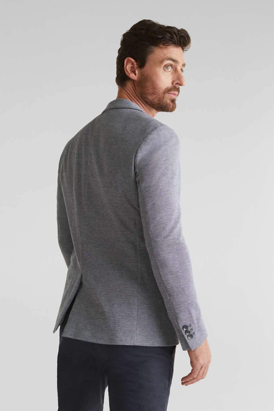 Jersey jacket made of 100% cotton, MEDIUM GREY 5, detail image number 3