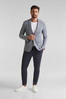 Jersey jacket made of 100% cotton, MEDIUM GREY 5, detail