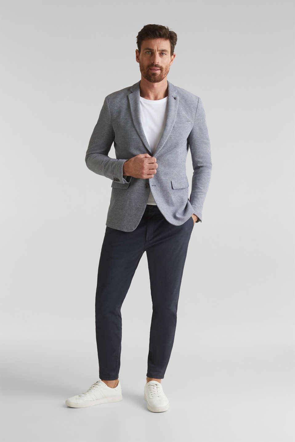 Jersey jacket made of 100% cotton, MEDIUM GREY 5, detail image number 1