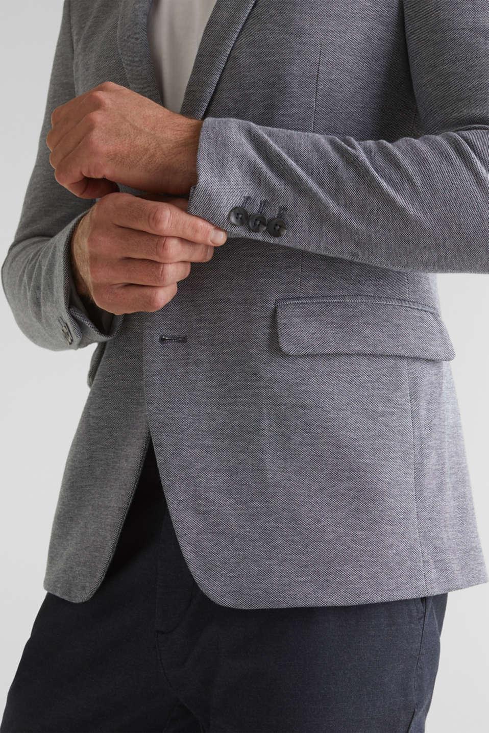 Jersey jacket made of 100% cotton, MEDIUM GREY 5, detail image number 6