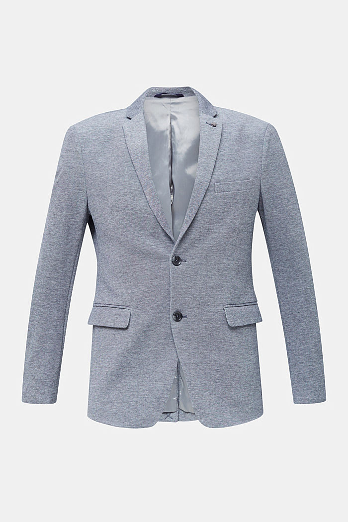 Jersey jacket made of 100% cotton, MEDIUM GREY, detail image number 7