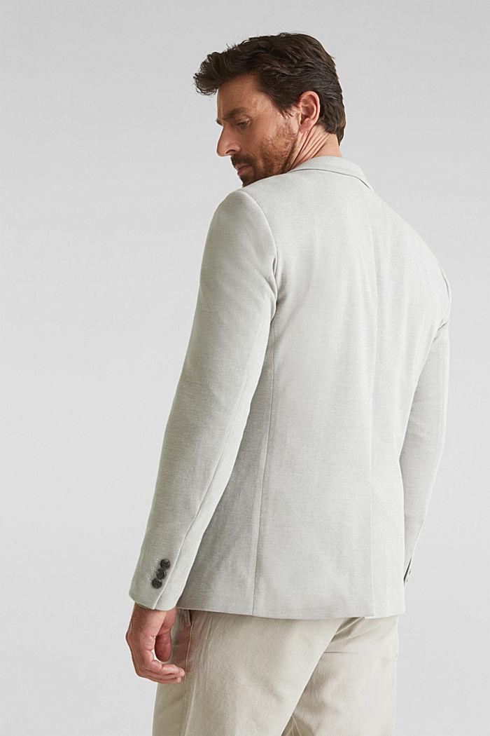 Jersey jacket made of 100% cotton, LIGHT KHAKI, detail image number 3
