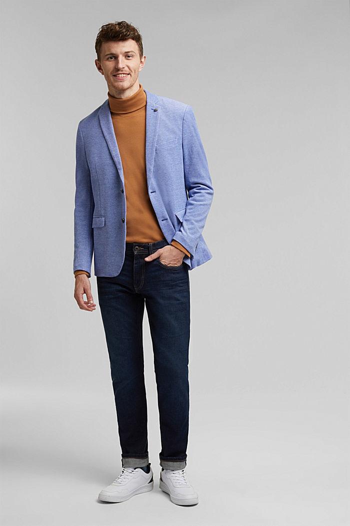 Jersey-Sakko aus 100% Baumwolle, LIGHT BLUE, detail image number 1