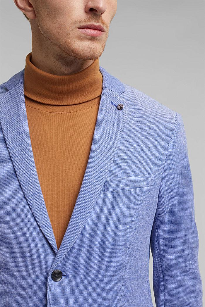 Jersey-Sakko aus 100% Baumwolle, LIGHT BLUE, detail image number 2