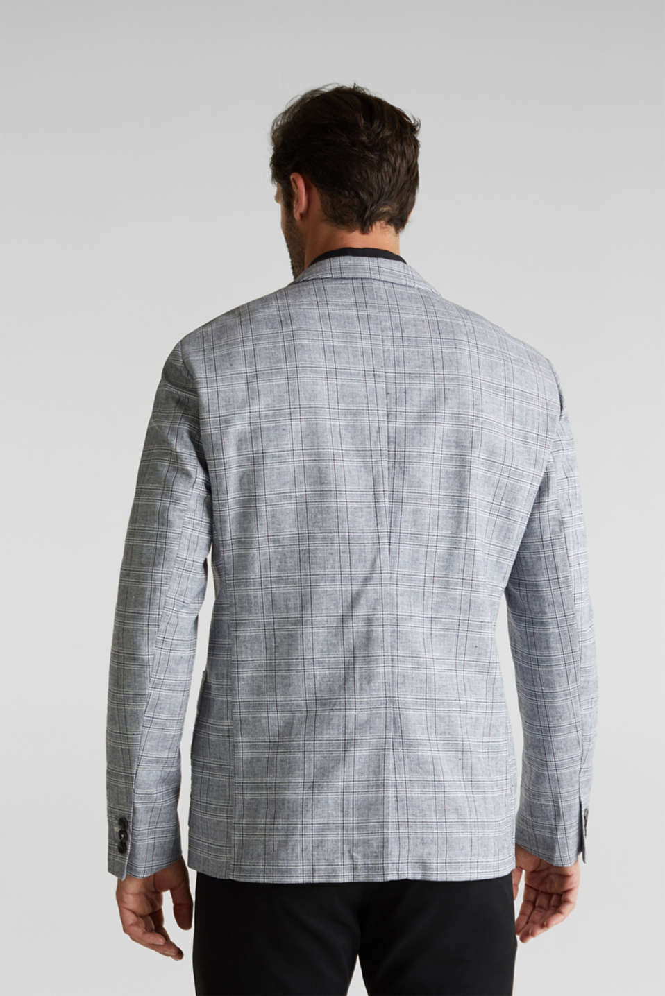 SUMMER CHECK mix + match tailored jacket, BLUE 3, detail image number 3