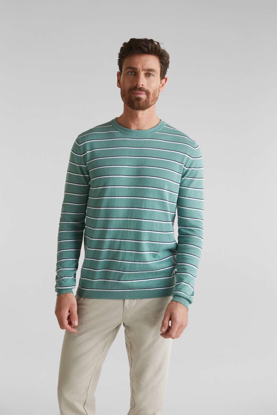 Jumper made of 100% organic cotton, TEAL GREEN 3, detail image number 6